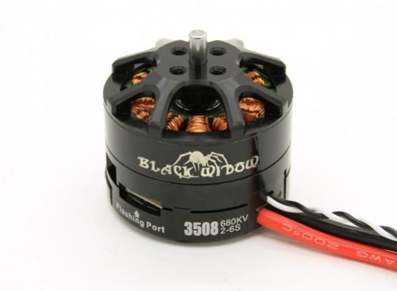 Negro Viuda 3508-680Kv con una función CES CW / CCW