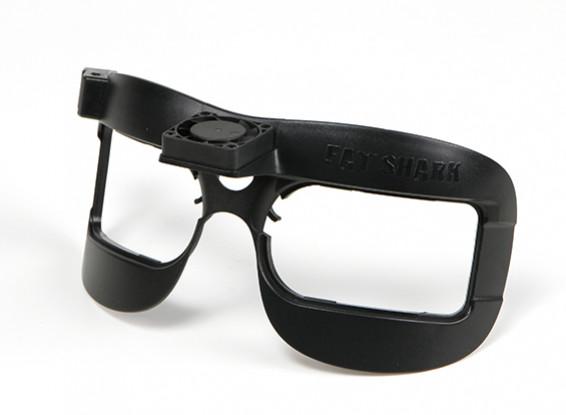 Fatshark Dominator Gafas sistema de auriculares de reemplazo de la placa frontal con ventilador incorporado