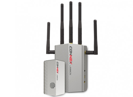CONEX inalámbrica 5.1-5.8 Ghz FPV sistema de vídeo HD Transmisor / Receptor (FCC Aprobado)