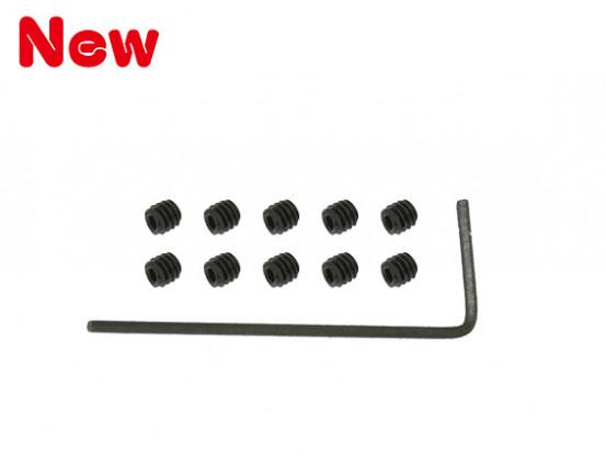 Gaui 100 y 200 del zócalo Tornillo de fijación (M2x2mmx10pcs) con H0.9 llave del hexágono