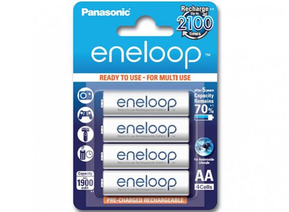 Panasonic Eneloop batería 1900mAh NiMH AA (paquete de 4)