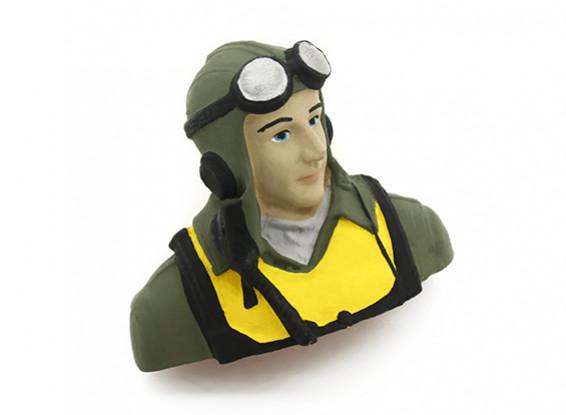 WW2 piloto Figura 1/10 (H57x W70 x D38mm)