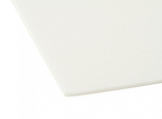 Aero-modelado Junta de espuma de 3 mm x 500 mm x 1000 mm (Blanco)