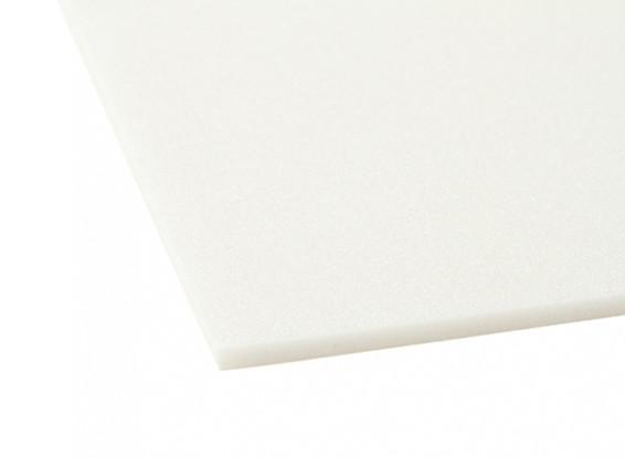 Aero-modelado Junta de espuma de 5 mm x 500 mm x 1000 mm (Blanco)