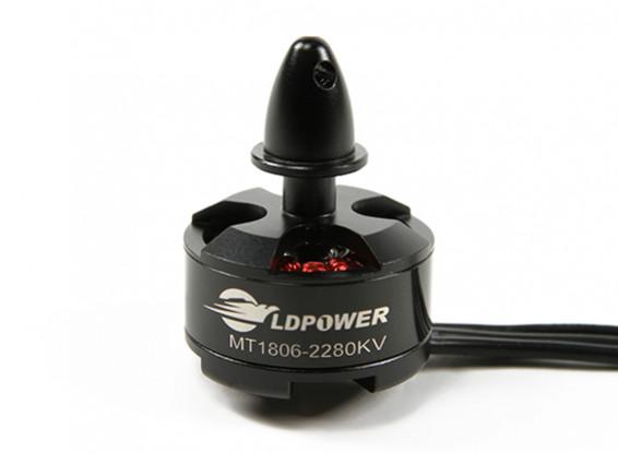 LDPOWER MT1806-2280KV sin escobillas del motor de Multicopter (CCW)