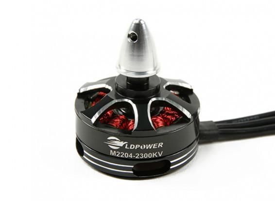 LDPOWER MT2204-2300KV sin escobillas del motor de Multicopter (CW)