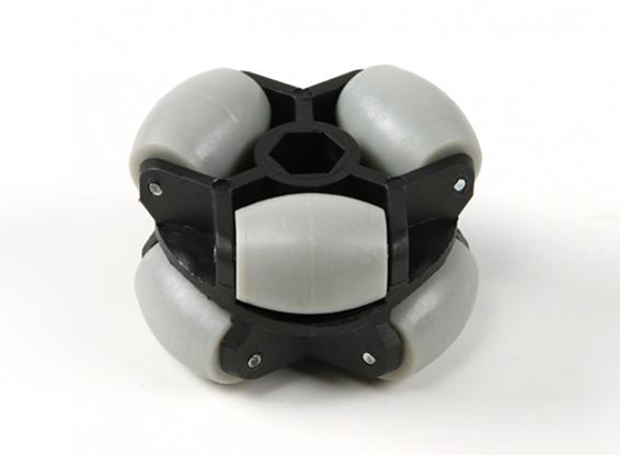 WH-01 omnidireccional de doble Robot 60 mm Rueda / 25kg Hex montaje