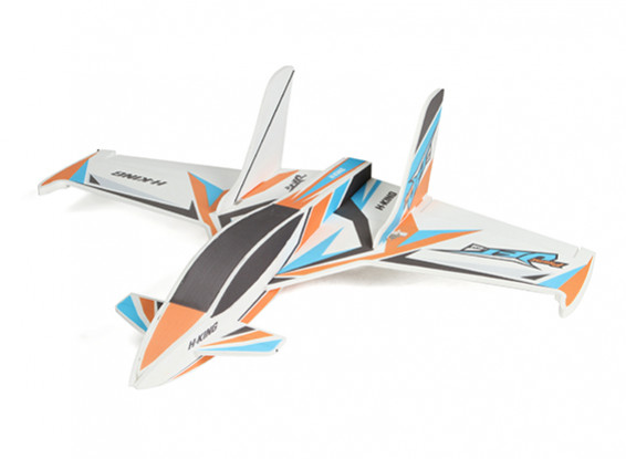 HobbyKing primer Jet Pro - Glue-N-Go Series - Kit Foamboard (naranja / azul)