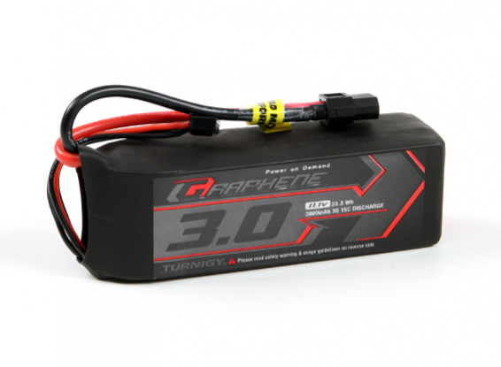 El grafeno Turnigy 3000mAh 3S 15C Profesional LiPo paquete w / XT60