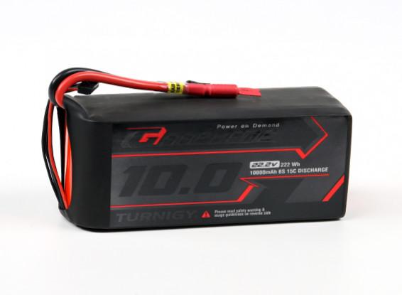 El grafeno Turnigy Profesional 10000mAh 6S 15C Lipo Pack de conector w / 5.5mm Bullet