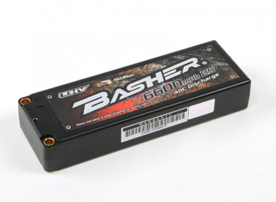 Basher 6600mAh 2S2P 40C LiHV paquete Estuche