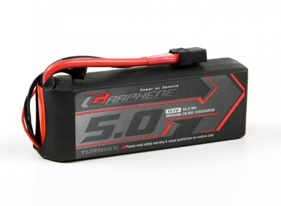 El grafeno Turnigy 5000mAh 3S 65C Li-Po paquete w / XT90
