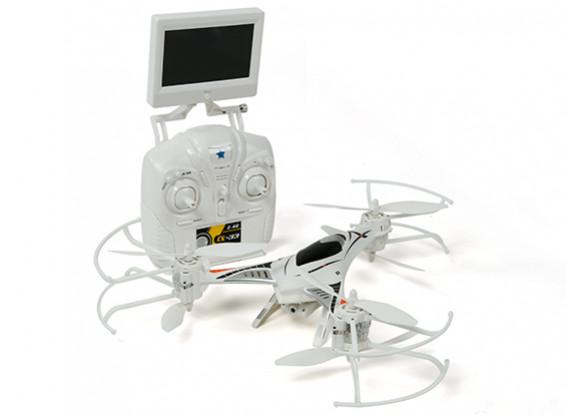 CX-33 Tricopter w / 5.8Ghz Tx, monitor, cámara de alta definición, 2.4Ghz Mode 1 / Modo 2 conmutable Tx (RTF)
