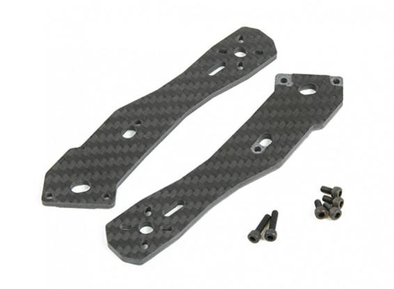 Armas tarot 3 mm de espesor traseras de Fibra de Carbono La mitad TL250H