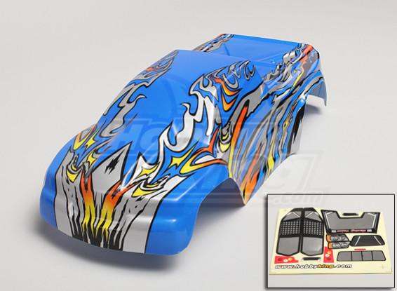 1/10 Monster Truck prepintado carrocería - Azul / Plata