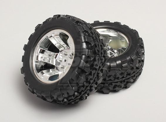 1/8 Monster Truck & Wheel los neumáticos de 12 mm Hex (2 piezas)