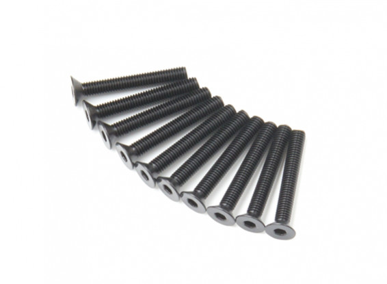 Plano del metal Machine Head Tornillo hexagonal M3x22-10pcs / set