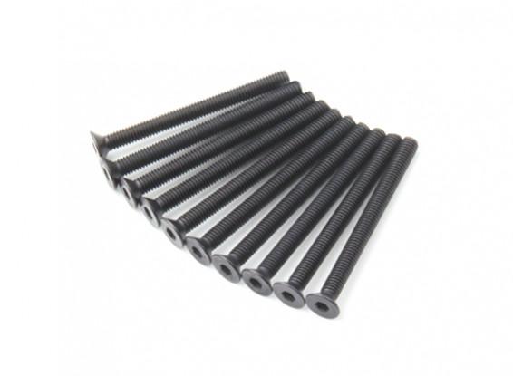 Plano del metal Machine Head Tornillo hexagonal M3x34-10pcs / set