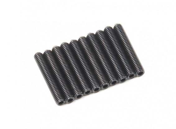 De metal tornillo de cabeza hendida M3x18-10pcs / set