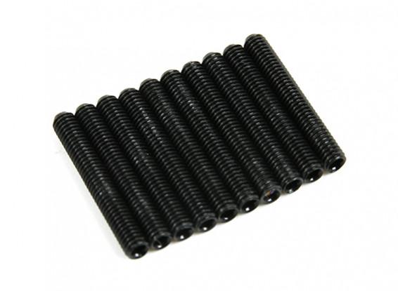 De metal tornillo de cabeza hendida M3x20-10pcs / set
