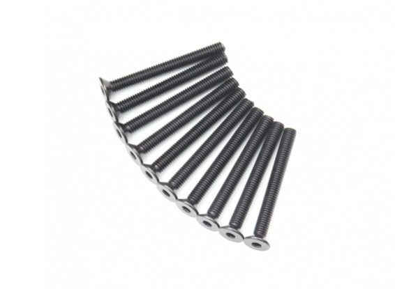 Plano del metal Machine Head Tornillo hexagonal M4x38-10pcs / set