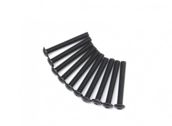 Ronda de metal Machine Head Tornillo hexagonal M4x30-10pcs / set