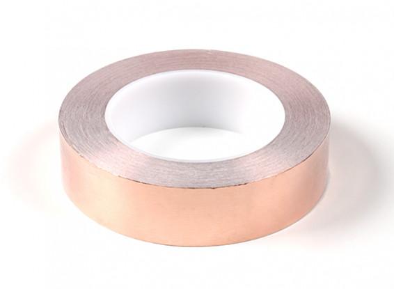 Auto-adhesivo de la cinta de cobre de 0,09 x 30mm (25 metros)
