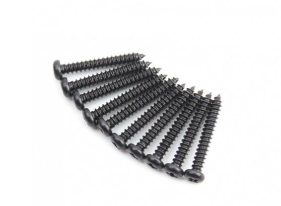 Ronda de la cabeza del metal Autorroscante agudo de la cola Phillip Tornillo M2.5x18-10pcs / set