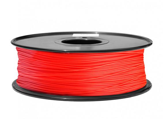 HobbyKing 3D Filamento impresora 1.75mm PLA 1kg Carrete (rojo)