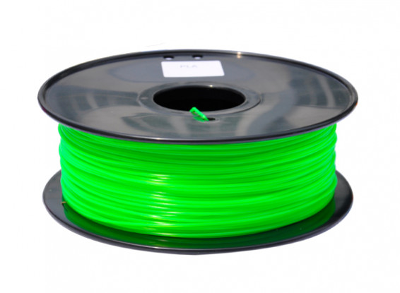 HobbyKing 3D Filamento impresora 1.75mm PLA 1kg de cola (verde fluorescente)