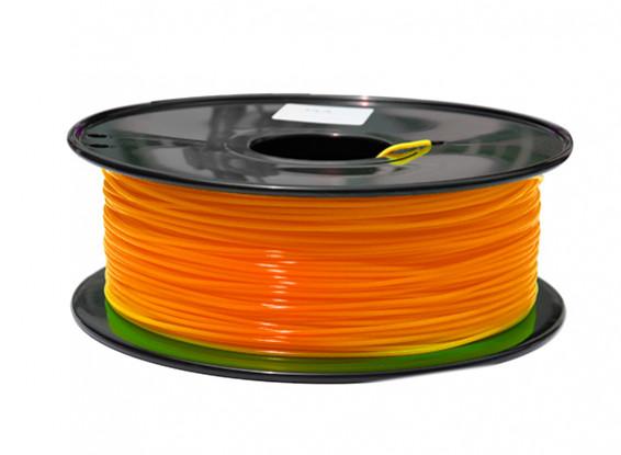 HobbyKing 3D Filamento impresora 1.75mm PLA 1kg Carrete (fluorescente naranja)