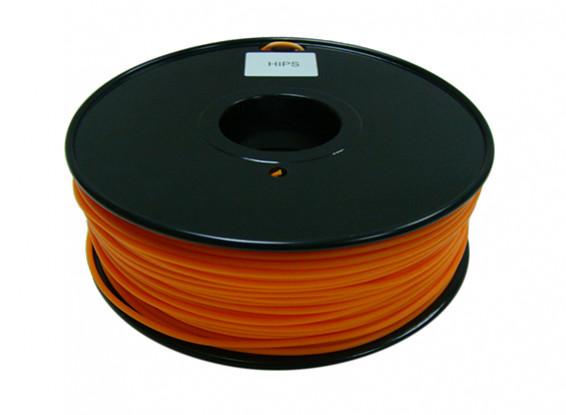 HobbyKing 3D Filamento impresora 1.75mm HIPS 1kg Carrete (Sólido Naranja)