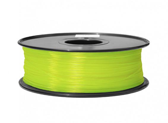 HobbyKing 3D Filamento impresora 1.75mm ABS 1kg Carrete (amarillo fluorescente)
