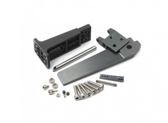 HydroPro Inception Regatas - CNC de aleación de aluminio con plástico timón Conjunto Soporte del timón