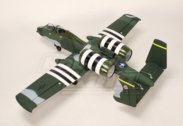A-10 Warthog del avión de combate w / Twin 75mm EDF (ARF)