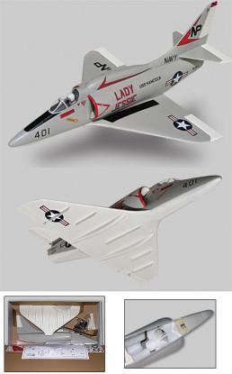 A-4 Skyhawk EP conductos Fan Jet ARF
