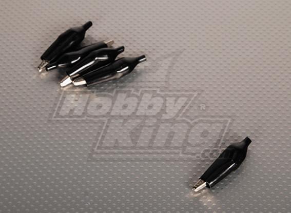 Cocodrilo Negro Clip (5pcs / bolsa)
