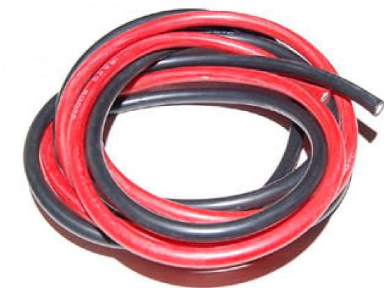 Silicio alambre de 16 AWG súper blando (1mtr) <b>RED</b>