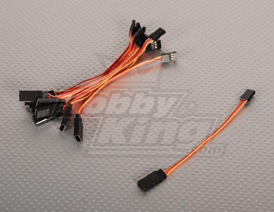 10CM Servo plomo (JR) 32AWG Ultra Light (10pcs / bag)