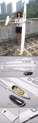 Fibra de vidrio ASW28 Planeador 2.53M (99.6in) ARF