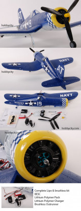 AT-F4U Corsair-RTF w / kit de Lipo y sin escobillas