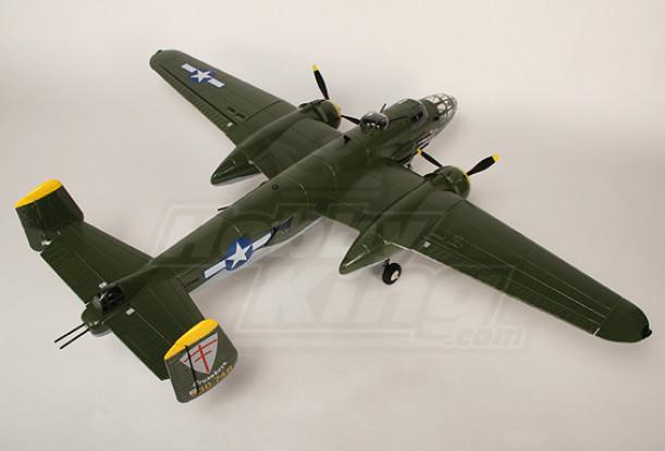 B-25 Mitchell Bombardero w / Twin sin escobillas y retrae plug & play