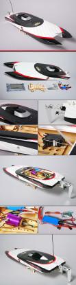 EP fibra de vidrio de doble casco Racer (Fantasma)