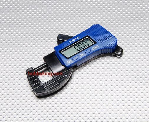 La fibra de carbono Compuesto digital 12mm Medidor de espesor