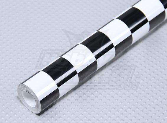 Recubrimiento de película Grill-trabajo en negro / blanco pequeños (20 mm) Cuadrados (5mtr)