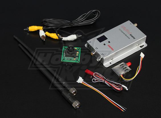 900MHZ 200mW Tx / Rx y cámara CCD de 1/3 pulgadas NTSC 520TVL