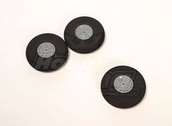 Esponja de ruedas D80xH22 (3pcs / bolsa)