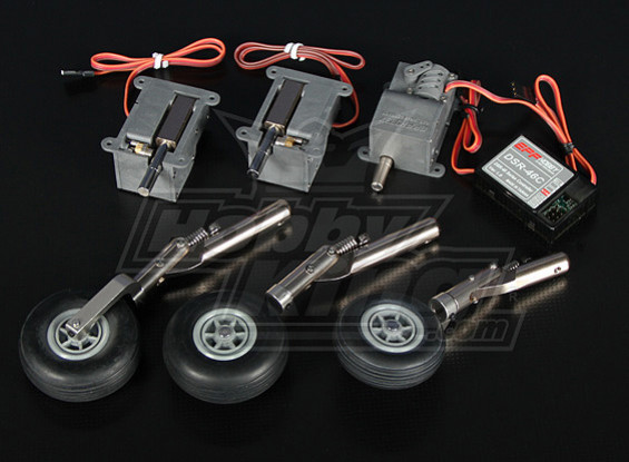 DSR-46TL eléctrico Trike retracción Conjunto - modelos de hasta 3,6 kg