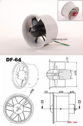 EDF64 con 144W Montado C20 Motor