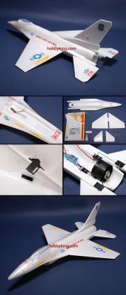 Avión de combate w / sin escobillas EDF ARF